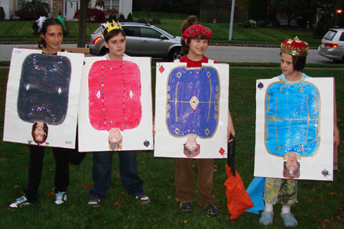 ... their head pieces and added them to the painted as playing cards cardboards. Voila! Queen King Jack and Jocker. Awesome idea for a group of older ...  sc 1 st  Educational Toys Planet & Best home-made kids Halloween costumes. Top 10 original costumes