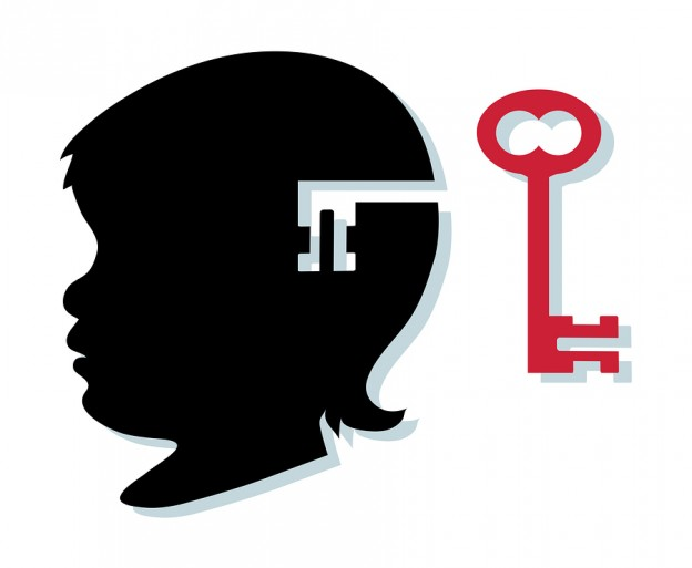 Child's Silhouette And Key