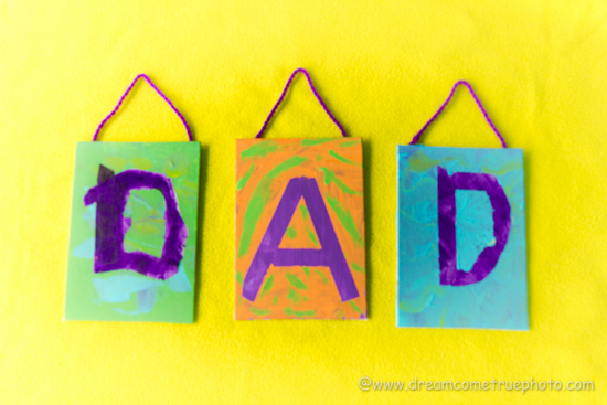 Fathers Day Craft: Masking Tape Letters