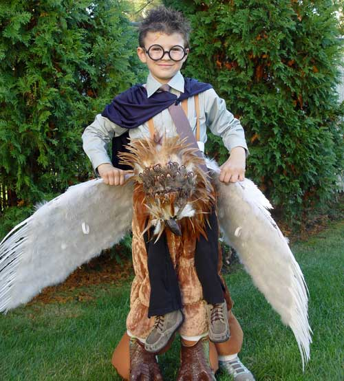 Hippogriff is made of the horse costume with feather ribbons from a craft store leather beak and angel costume wings. costume5a  sc 1 st  Educational Toys Planet & Best home-made kids Halloween costumes. Top 10 original costumes